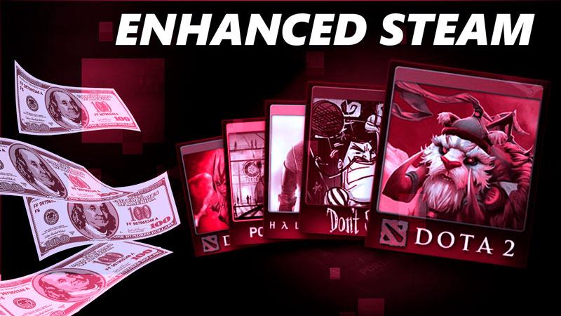 Enhanced Steam é a extensão que mostra os descontos e ajuda a vender cartas na Steam