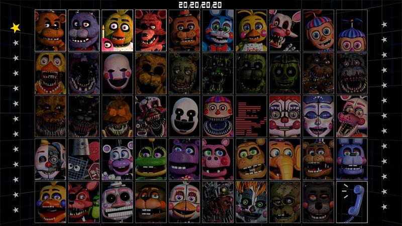 Conheça Ultimate Custom Night, o jogo definitivo de Five Nights at Freddy's e do desafio 50/20