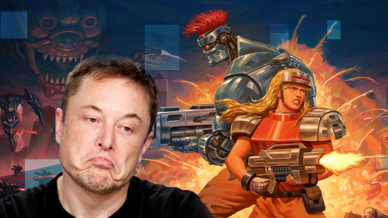 Elon Musk quer adicionar o jogo brasileiro Blazing Chrome nos carros da Tesla