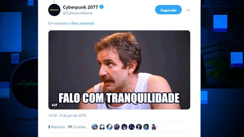 O Twitter de Cyberpunk 2077 está batendo um papo com os fãs de um jeito bem brasileiro