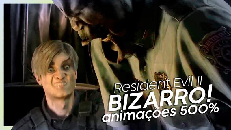 Vídeo mostra animações faciais de Resident Evil 2 multiplicadas por 500! Ficou bizarro