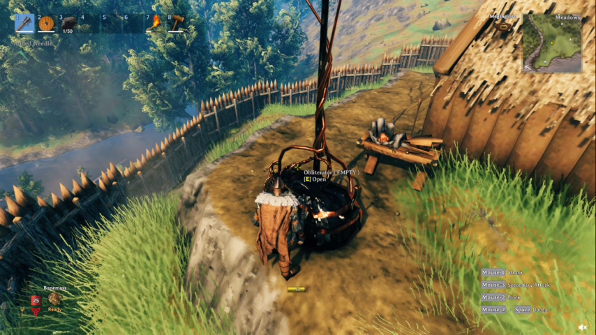 Jogador interagindo com o Obliterador
