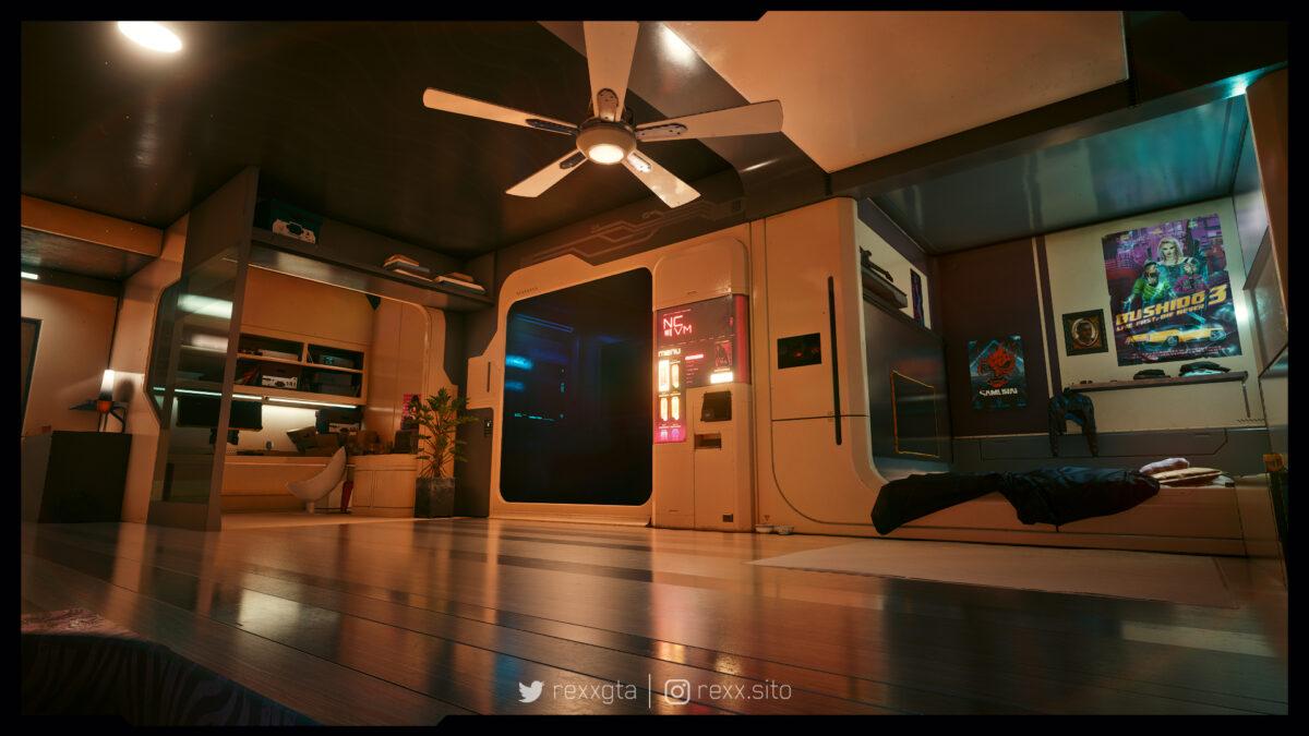 Mod melhora apartamento de V em Cyberpunk 2077